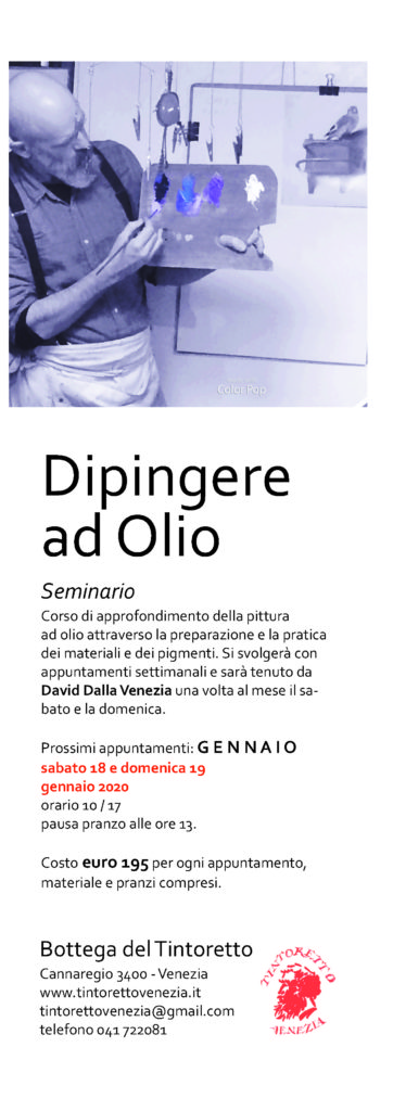 Dipingere ad Olio con David Dalla Venezia – gennaio 2020