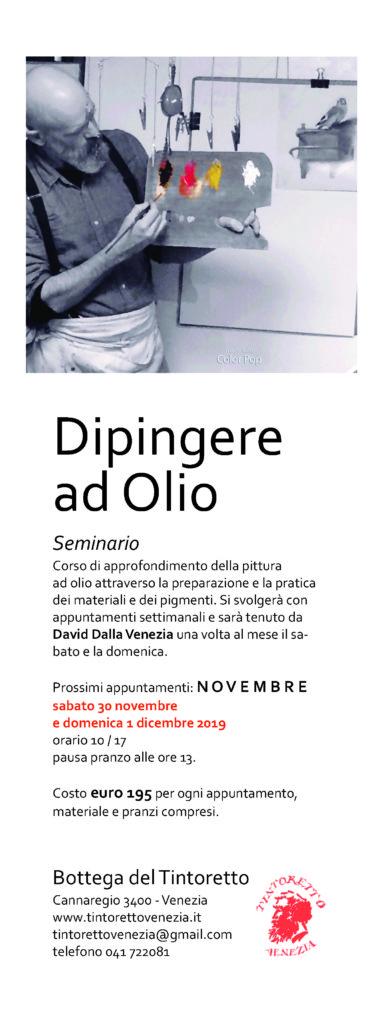 Dipingere ad Olio con David Dalla Venezia – novembre 2019