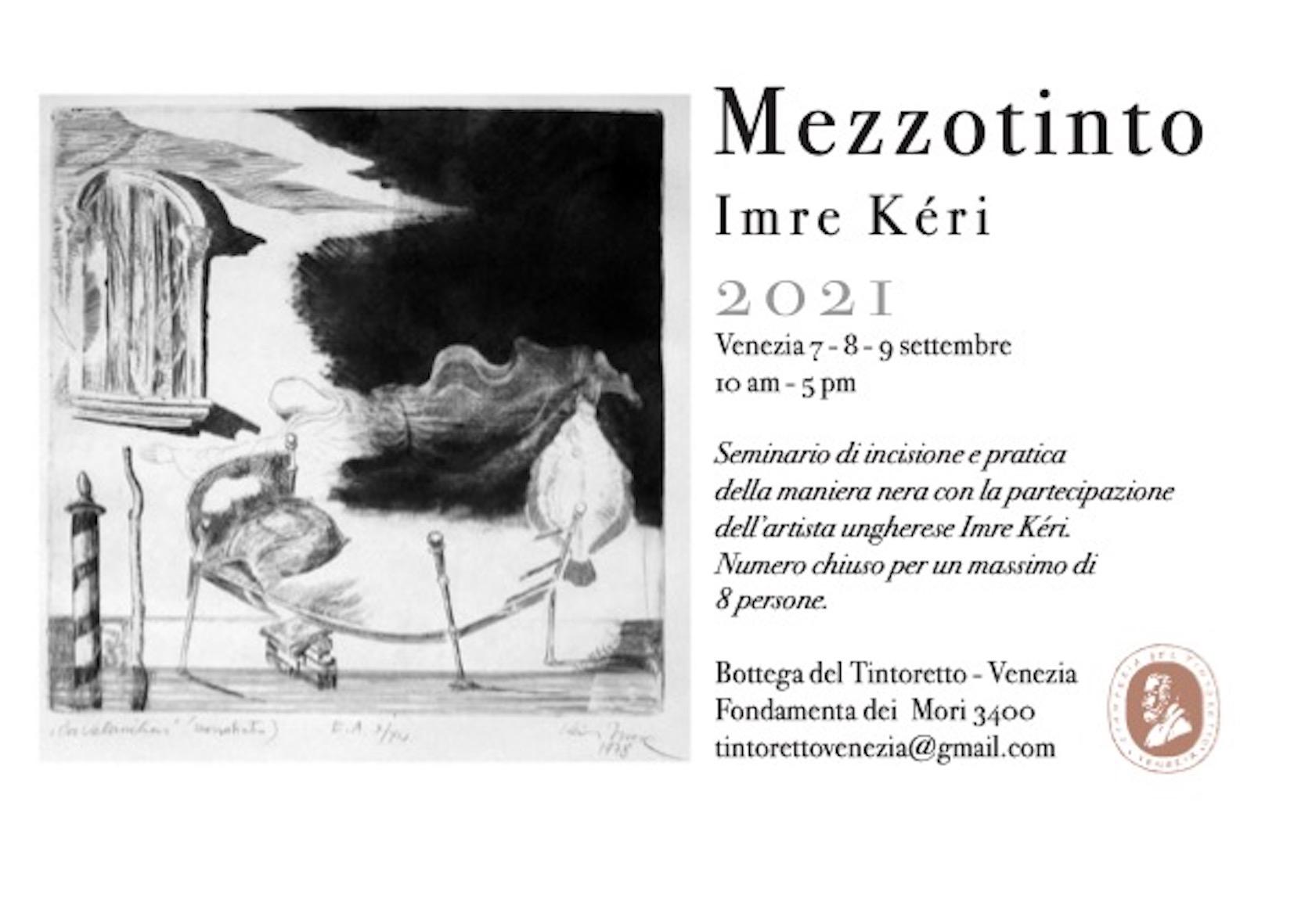 A settembre il corso di mezzotinto con l'artista Imre Kéri.