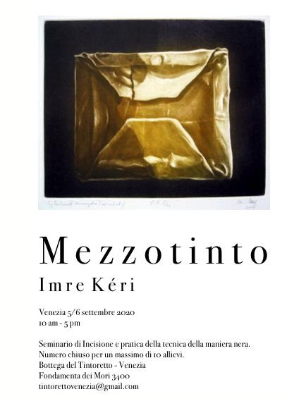 Attenzione: rimandato a primavera il corso di mezzotinto con l'artista Imre Kéri.