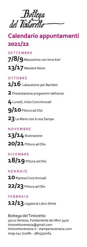 Eventi appuntamenti settembre 2021- febbraio 2022